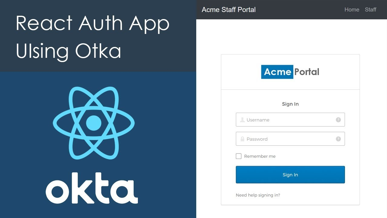 Build a React.js application and add Authentication with Auth0