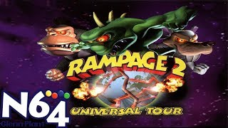 Rampage 2 Universal Tour - Nintendo 64 Review - HD