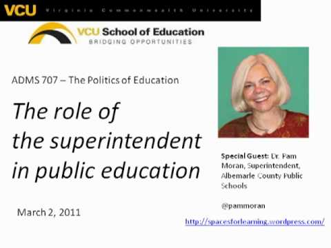 The Role of the Superintendent in Public Education