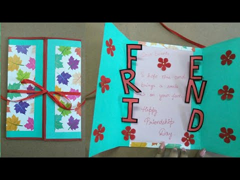 Diy Friendship Card How To Make Card For Friends Simple And Easy
