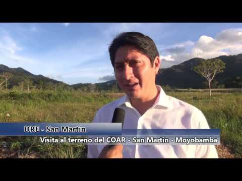 Director Nacional de PRONIED visita terreno del COAR San Martín