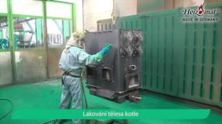 Výroba kotle Heizomat - kotel na štěpku