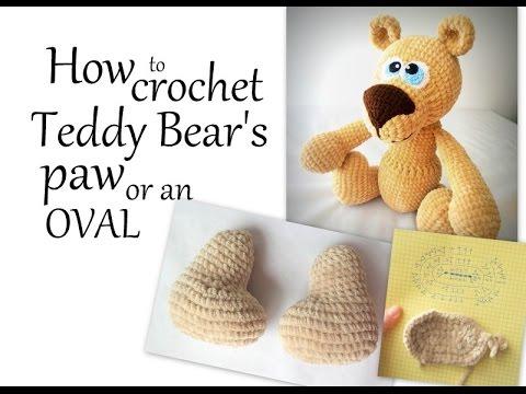 How To Crochet Amigurumi Teddy Bear : Amigurumi Bear Pattern - How to crochet Teddy Bears paw ...