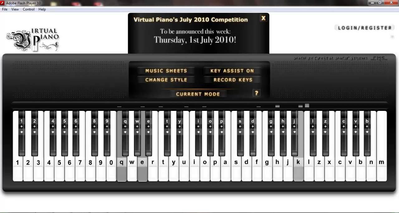 Virtual Piano] Für Elise - Ludwig van Beethoven - YouTube