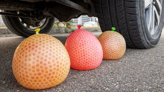 Crushing Crunchy & Soft Things with Car! Car VS Orbeez