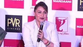 Rani Mukerji launches Mardaani Anthem Song