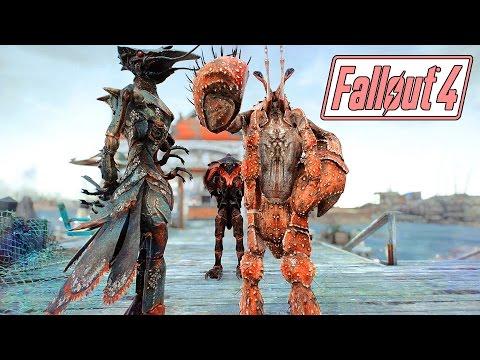 Fallout 4 Mods - MIRELURTANTS! - Crab People Companions - Full Showcase & Colors