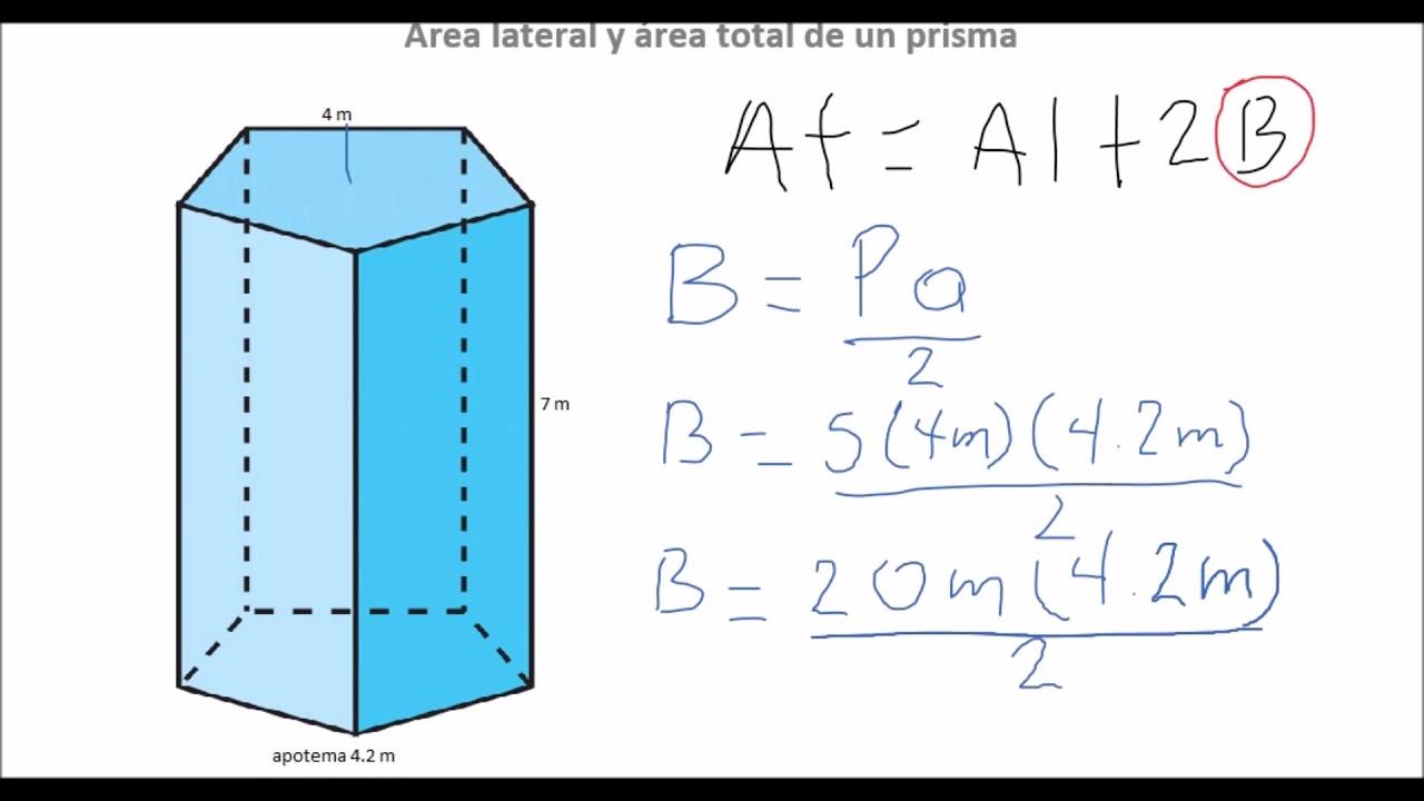 área Lateral Y área Total De Un Prisma Pentagonal Quédateencasa Y Estudia Conmigo Youtube
