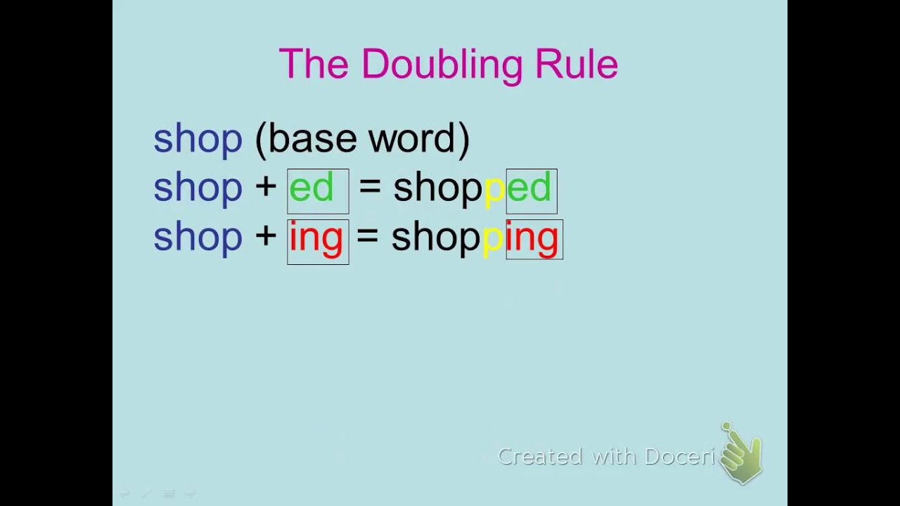 medium resolution of ending...ing/ed - YouTube