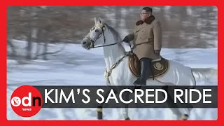 New Video of Supreme Leader Kim Jong-un Riding White Horse Up Sacred Mountain