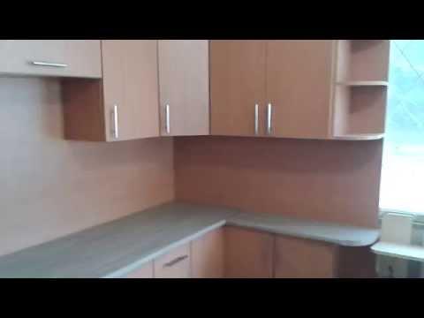 Угловая кухня. Фасады Ламинированная ДСП