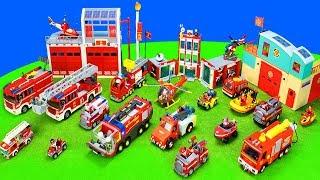 Feuerwehrautos: Feuerwehrmann Sam, Lego City, Playmobil & Paw Patrol   Spielzeug Feuerwehr Action