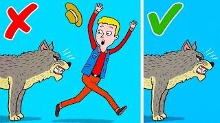 6 Maneras de sobrevivir a los ataques de animales salvajes