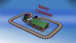 Merry Christmas 2011 - Wooden Train On Path.wmv