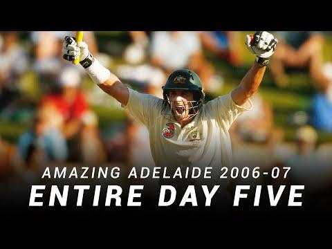 LIVE Flashback: Amazing Adelaide, Day Five   2006-07 Ashes