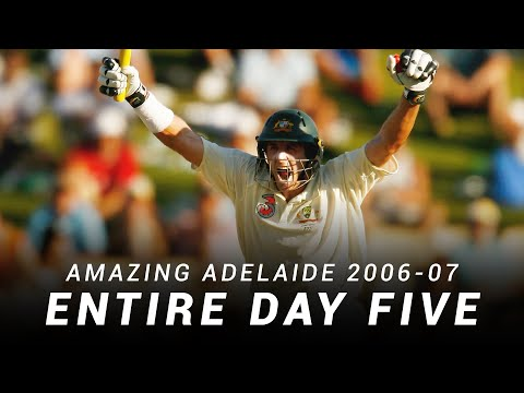 LIVE Flashback: Amazing Adelaide, Day Five | 2006-07 Ashes