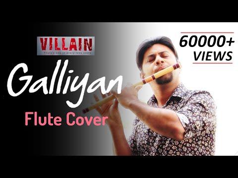 Teri Galliyan - Flute Cover - Ek Villian - Lyrical - Intrumental - Divine Bansuri