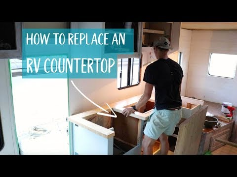 How to replace an RV countertop