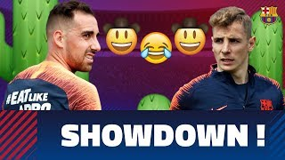 INSIDE TRAINING | Wild west showdown between Digne & Alcácer thumbnail