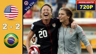 [ Quarter-Final ] USA vs Brazil 2-2 All Goals & Highlights | 2011 WWC