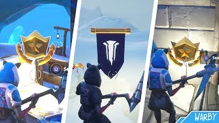 Fortnite - All Season 7 Secret Battle Stars & Banner Locations Guide (Free Battle Pass Tiers)