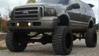 "Review of 2005 Eddie Bauer Excursion Diesel~12"" Rise Industries Lift~40"" Tires~24000 Miles"