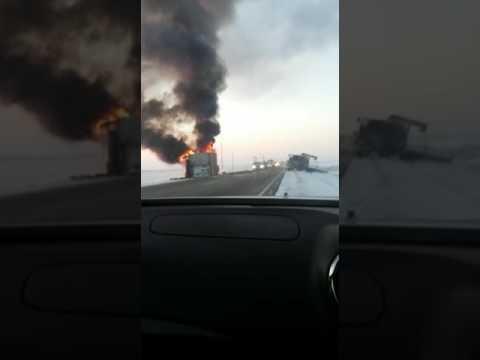 Взрыв грузовика. Страшная авария д. Волково Амурская область.