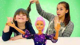 Игры для девочек прически – Кукла Барби меняет имидж! - Красим волосы.
