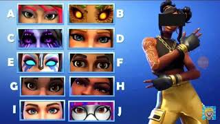 "Fortnite game guesses the eyes of the skin "" games and fortnite toys """