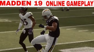 Madden 19 Online Gameplay (Baltimore Ravens vs Los Angeles Chargers)