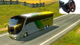 Euro Truck Simulator 2 - Public Beta 1.20 - Ônibus G7 1600 LD 6x2 com o volante caseiro