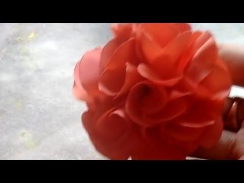 Flor camélia simples costurada, Juliana...