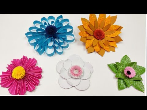 How to make Easy Paper Flowers | Flower making tutorial | DIY Paper Flowers | Paper Crafts