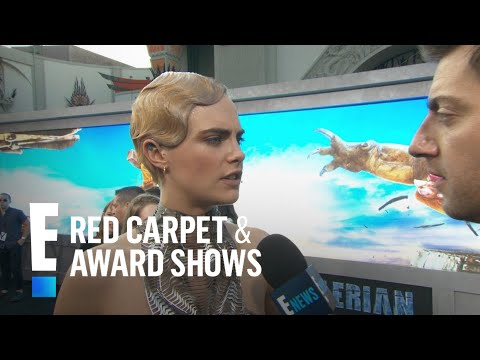 "Cara Delevingne Rocks Metal-Like Dress to ""Valerian"" Premiere 