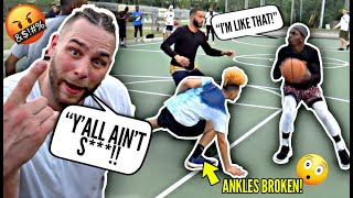 Trash Talkers Got PISSED & Told Us To LEAVE! Aquille Carr Broke Ankles & Went OFF at BIL East Run!