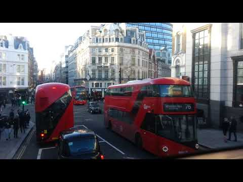 Cannon Street to Charing Cross by No 15 bus   18th December 2017