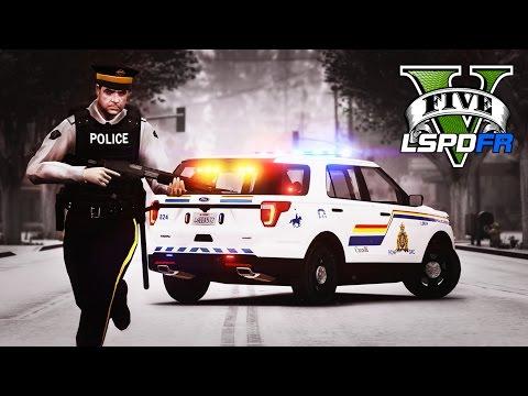 GTA 5 - LSPDFR Ep165 - Crazy RCMP Snow Patrol!!