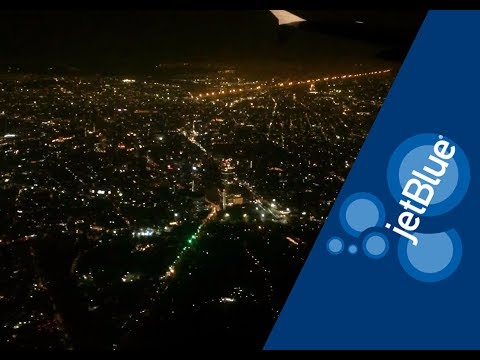 Jetblue, Airbus A320 | Orlando to Mexico City (full flight and night landing in Mexico City)