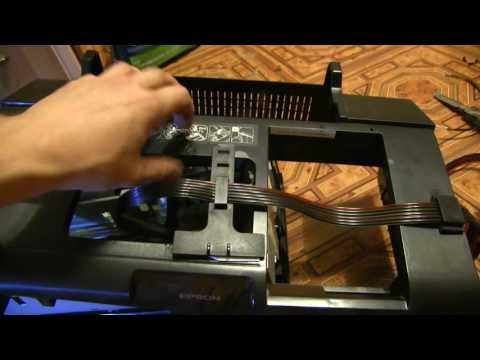 Epson P50 выбрасывает лоток с диском, ремонт