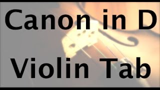 How to play Canon in D on the Violin