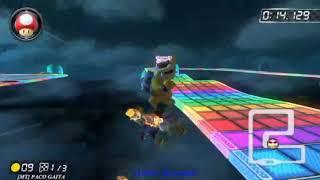 MK8D Snes Rainbow Road BKS Lap 1 0:28.948