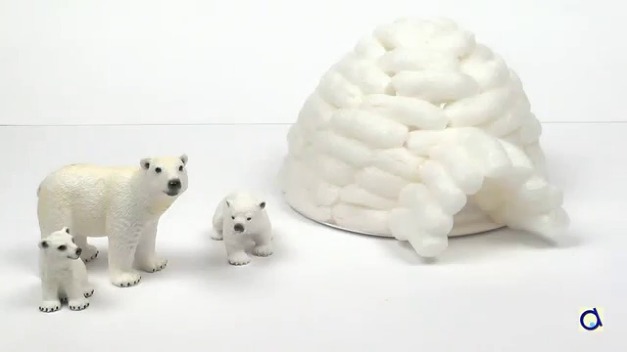 bricolage igloo en nouilles magiques youtube. Black Bedroom Furniture Sets. Home Design Ideas