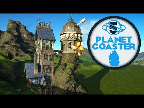 Custom Steampunk Observatory :: Planet Coaster