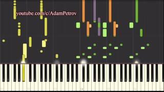 Jamiroquai - Cosmic Girl (piano tutorial & cover) Synthesia
