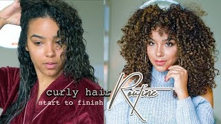 My Curly Hair Routine for Color Treated Curls!