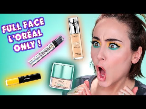 Full Face Using Only LOREAL Products 😯 | Drogerie One Brand Look Loreal Makeup | Hatice Schmidt