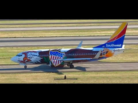 (HD) Many Specials! Plane Spotting Portland International Airport Portland, Oregon KPDX / PDX