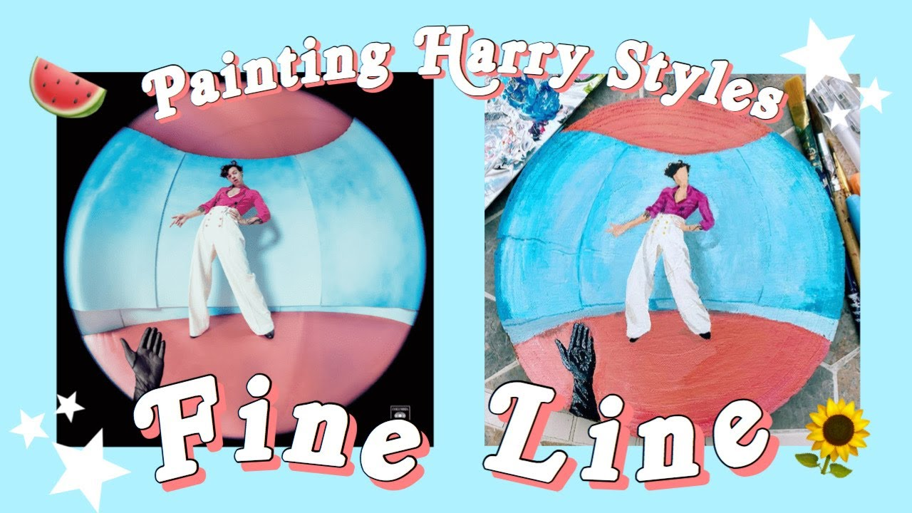 Painting Harry Styles Fine Line Album Cover Youtube