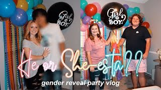 HE OR SHE-ESTA?? | Sister's Gender Reveal Vlog