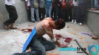 Golpean e intentan linchar a presunto secuestrador en Ecatepec.Santa María Chiconautla